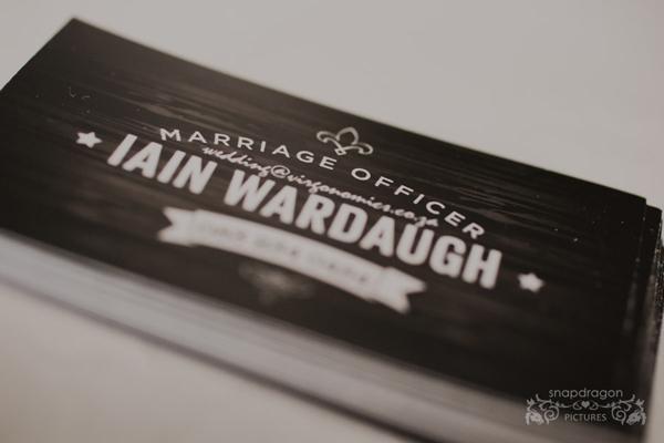 Iain Wardaugh – Marriage Officer