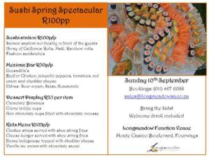 Sushi Spring Spectacular R100pp v2