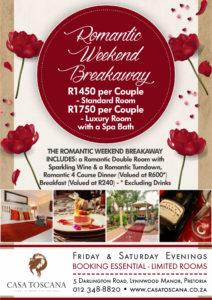 Romantic Weekend Breakaway
