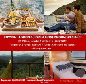Knysna Lagoon & Forest SPECIAL HONEYMOON OFFER gmail